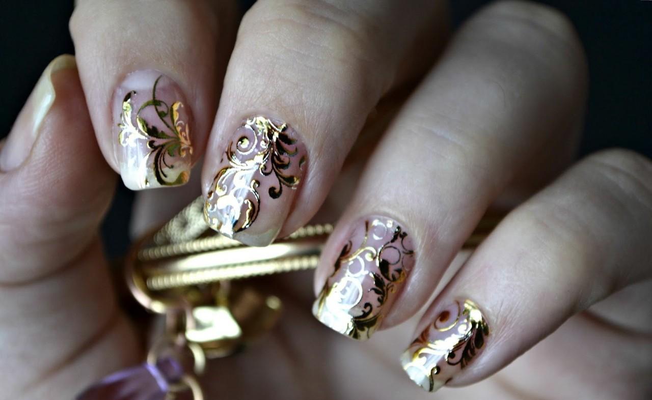 Дизайн ногтей с восточным орнаментом фото